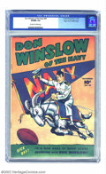 Golden Age (1938-1955):War, Don Winslow #40 Mile High pedigree (Fawcett, 1946) CGC VF/NM 9.0Off-white to white pages. This near-immaculate book appears...