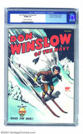 Golden Age (1938-1955):War, Don Winslow #41 Mile High pedigree (Fawcett, 1946) CGC VF/NM 9.0Off-white to white pages. Don Winslow loses his cap, and is...