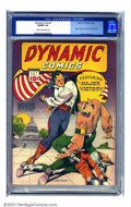 "Golden Age (1938-1955):Adventure, Dynamic Comics #1 (Chesler, 1941) CGC VG/FN 5.0 Cream to off-white pages. ""World's Greatest Comics"" is pretty strong for pub..."