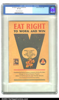 Golden Age (1938-1955):Non-Fiction, Eat Right to Work and Win #nn (Swift & Company, 1942) CGC VF8.0 Cream to off-white pages. Here is one cool giveaway from th...