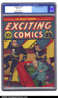 Exciting Comics #10 (Nedor Publications, 1941) CGC FN+ 6.5 Off-white to white pages. The second appearance of the Black...