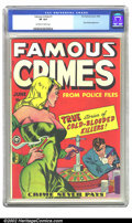 Golden Age (1938-1955):Crime, Famous Crimes #1 (Fox Features Syndicate, 1948) CGC VF 8.0 Off-white to white pages. This is the first issue of this series ...