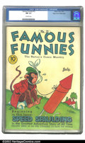 Golden Age (1938-1955):Humor, Famous Funnies #72 Mile High pedigree (Eastern Color, 1940) CGC NM 9.4 Off-white pages. This is the highest CGC-graded copy ...