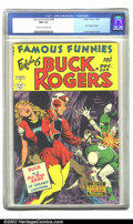 Golden Age (1938-1955):Science Fiction, Famous Funnies #209 (Eastern Color, 1953) CGC NM 9.4 Cream tooff-white pages. Frank Frazetta's Buck Rogers covers for Fam...