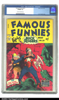 Golden Age (1938-1955):Science Fiction, Famous Funnies #211 (Eastern Color, 1954) CGC VF/NM 9.0 Cream tooff-white pages. This beautiful copy features a fantastic c...