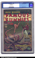 Golden Age (1938-1955):Science Fiction, Famous Funnies #215 (Eastern Color, 1955) CGC VF 8.0 Cream tooff-white pages. The late 1940s and early 1950s featured some ...