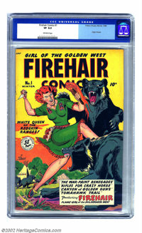 Firehair Comics #1 (Fiction House, 1948) CGC VF 8.0 Off-white pages. First appearing in Rangers Comics over three years...