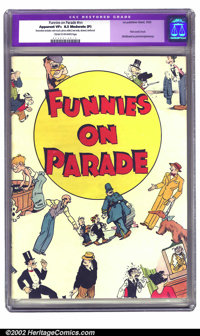 Funnies On Parade nn (Eastern Color, 1933) CGC Apparent VF+ 8.5 Moderate (P) Cream to off-white pages. One of the most i...