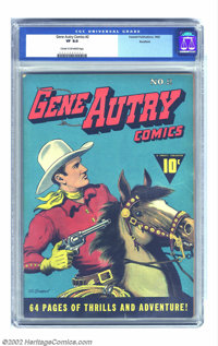 Gene Autry Comics #2 Rockford pedigree (Fawcett, 1942) CGC VF 8.0 Cream to off-white pages. This early Fawcett issue of...