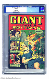Giant Comics Editions #4 (St. John, 1949) CGC NM 9.4 Off-white pages. This incredibly rare book is almost never seen in...