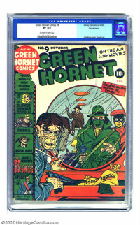 Green Hornet Comics #9 Pennsylvania pedigree (Harvey, 1942) CGC VF 8.0 Off-white to white pages. Jack Kirby lends his fa...