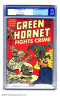 Golden Age (1938-1955):Crime, Green Hornet Comics #36 (Harvey, 1947) CGC VF- 7.5 Light tan to off-white pages. One of only five covers in the series that ...