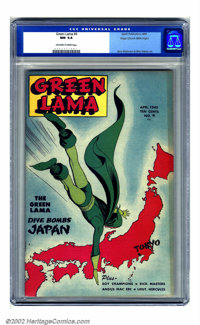 Green Lama #4 Mile High pedigree (Spark Publications, 1945) CGC NM 9.4 Off-white to white pages. From the pulp pages of...