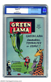 Green Lama #8 Mile High pedigree (Spark Publications, 1946) CGC VF/NM 9.0 Off-white pages. This final issue of the short...