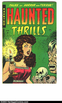 Haunted Thrills #1 (Farrell, 1952) Condition = F/VF. The comic book collecting community is rapidly realizing that the s...