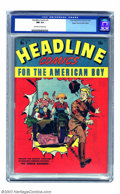 Golden Age (1938-1955):War, Headline Comics #7 Mile High pedigree (Prize, 1945) CGC NM 9.4Off-white pages. You really need to view this and other Mile ...