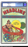 Golden Age (1938-1955):Miscellaneous, Headline Comics #17 Mile High pedigree (Prize, 1946) CGC NM+ 9.6 White pages. A great issue featuring the Atomic Man; and th...