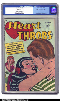 Heart Throbs #2 Mile High pedigree (Quality, 1949) CGC NM 9.4 Off-white to white pages. A great Bill Ward cover and nine...