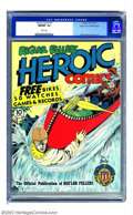 Golden Age (1938-1955):Superhero, Heroic Comics #7 Mile High pedigree (Eastern Color, 1941) CGC NM/MT 9.8 White pages. Bill Everett offers another winning cov...