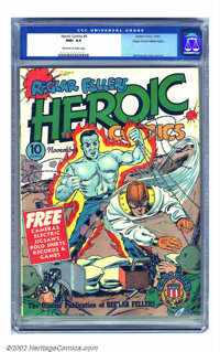 Heroic Comics #9 Mile High pedigree (Eastern Color, 1941) CGC NM+ 9.6 Off-white to white pages. This Mile High beauty ha...