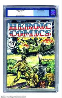 Heroic Comics #20 Mile High pedigree (Eastern Color, 1943) CGC NM+ 9.6 White pages. This copy is outstanding in every wa...