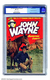 John Wayne Adventure Comics #2 (Toby Publishing, 1950) CGC NM- 9.2 Off-white to white pages. A slightly miscut front cov...
