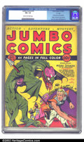 "Golden Age (1938-1955):Science Fiction, Jumbo Comics #10 ""D"" Copy pedigree (Fiction House, 1939) CGC FN+6.5 Cream to off-white pages. Lou Fine shows his mastery on..."