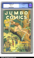 Golden Age (1938-1955):Miscellaneous, Jumbo Comics #89 Big Apple pedigree (Fiction House, 1946) CGC NM+ 9.6 Off-white pages. Sheena the Jungle Queen must figure o...