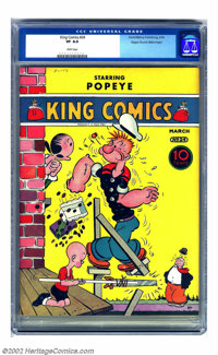 King Comics #24 Mile High pedigree (David McKay Publications, 1938) CGC VF 8.0 White pages. The Mile High pedigree pract...
