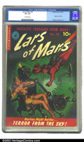 Golden Age (1938-1955):Science Fiction, Lars of Mars #10 (Ziff-Davis, 1951) CGC VF+ 8.5 Off-white pages. In this truly classic robot cover, the fantastic crusader f...