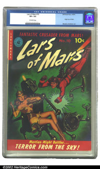 Lars of Mars #10 (Ziff-Davis, 1951) CGC VF+ 8.5 Off-white pages. In this truly classic robot cover, the fantastic crusad...