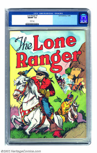 Lone Ranger #1 (Dell, 1948) CGC 9.8 NM/MT White pages. The Lone Ranger's tremendous charisma carried over easily from ra...