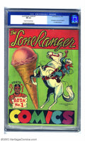 Golden Age (1938-1955):Western, Lone Ranger Comics #1 (Lone Ranger Inc., 1939) CGC FN 6.0 Cream tooff-white pages. This promotional copy available via mail...