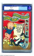 Golden Age (1938-1955):Cartoon Character, Looney Tunes and Merrie Melodies Comics #3 (Dell, 1942) CGC VG+ 4.5Off-white pages. All of the classic Warner Brothers famo...