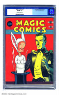 Golden Age (1938-1955):Miscellaneous, Magic Comics #10 Mile High pedigree (David McKay Publications, 1940) CGC VF/NM 9.0 Off-white to white pages. This cover, ima...