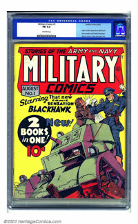 Military Comics #1 (Quality, 1941) CGC FN 6.0 Off-white pages. This is one of the biggies from the Golden Age of comics...