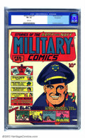 Golden Age (1938-1955):War, Military Comics #7 Pennsylvania pedigree (Quality, 1942) CGC FN-5.5 White pages. Chuck Cuidera was the cover artist on this...