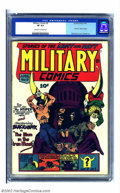 Golden Age (1938-1955):War, Military Comics #9 (Quality, 1942) CGC VF 8.0 Off-white pages. Twoof the greatest Golden Age artists worked on this fantast...