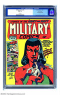Golden Age (1938-1955):War, Military Comics #14 San Francisco pedigree (Quality, 1942) CGC NM9.4 White pages. This has to be the prettiest copy of one ...