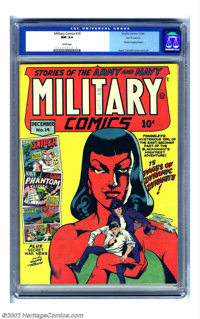 Military Comics #14 San Francisco pedigree (Quality, 1942) CGC NM 9.4 White pages. This has to be the prettiest copy of...