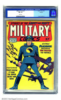 Golden Age (1938-1955):War, Military Comics #21 Rockford pedigree (Quality, 1943) CGC FN+ 6.5White pages. Even without the flag or a red-white-and-blue...