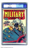 Golden Age (1938-1955):War, Military Comics #30 Rockford pedigree (Quality, 1944) CGC VF 8.0Cream to off-white pages. Bill Ward's only cover on the tit...