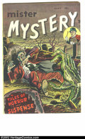 Golden Age (1938-1955):Horror, Mister Mystery #1 (Aragon Magazines, Inc., 1951) Condition: FN+.The overall dark appearance on this cover really adds to th...