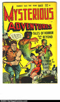 Golden Age (1938-1955):Horror, Mysterious Adventures #1 (Story Comics, 1951) Condition: VF+. Thisbeautifully glossy book has a really in-your-face headlig...