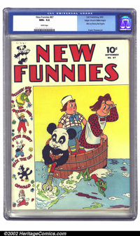 New Funnies #67 Mile High pedigree (Dell, 1942) CGC NM+ 9.6 White pages. One of comics' earliest titles, and Dell's seco...