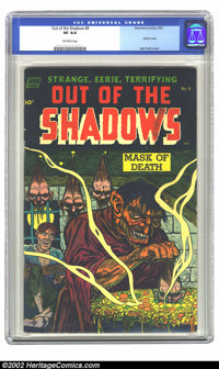 Out Of The Shadows #8 (Standard, 1953) CGC VF 8.0 Off-white pages. This one is on every horror collector's want list. Fe...