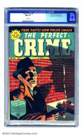 Golden Age (1938-1955):Crime, Perfect Crime #9 Mile High pedigree (Cross Publications, 1951) CGC NM 9.4 White pages. Neither Overstreet nor Gerber mention...