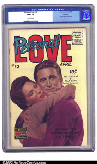 Personal Love #32 File copy (Famous Funnies, 1955) CGC NM- 9.2 Off-white pages. The final issue of this romance title no...