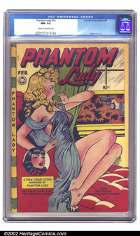Phantom Lady #16 (Fox, 1948) CGC NM- 9.2 Cream to off-white pages. Let's throw out a few words and play an association g...