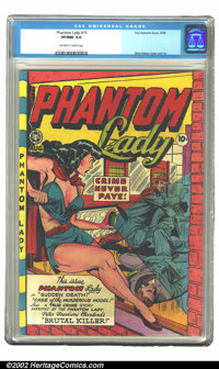 Phantom Lady #19 (Fox, 1948) CGC VF/NM 9.0 Off-white to white pages. Matt Baker, premier purveyor of female pulchritude...
